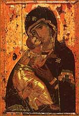 Богомтерь с младенцем Иисусом. Владимирская икона.