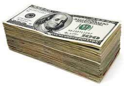 пачка доларов